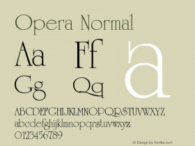 Opera Normal Version 001.000 Font Sample