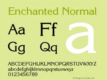Enchanted Normal Version 001.000 Font Sample