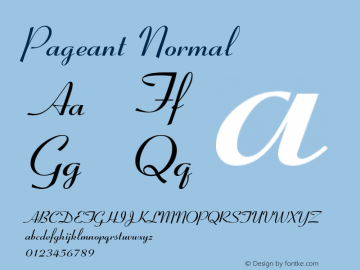 Pageant Normal Version 001.000 Font Sample
