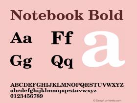 Notebook Bold Version 001.000 Font Sample