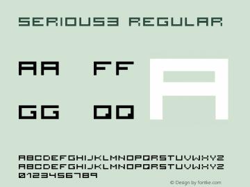 serious3 Regular 001.000 Font Sample