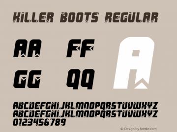 Killer boots Regular 2 Font Sample