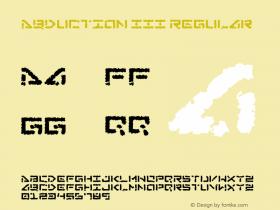Abduction III Regular Version 1.00 - 02/16/01 -
