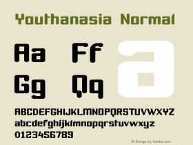 Youthanasia Normal Version 001.000 Font Sample