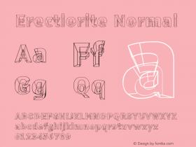 Erectlorite Normal Version 001.000 Font Sample