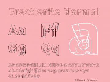 Erectlorite Normal Version 001.000 Font Sample