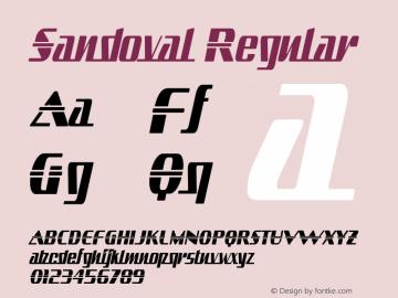 Sandoval Regular OTF 3.000;PS 001.001;Core 1.0.29 Font Sample