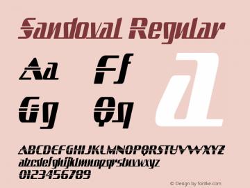Sandoval Regular Version 2.000 2004 Font Sample