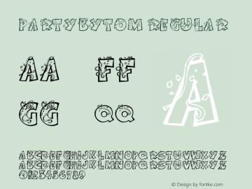 PartybyTom Regular Version 1.02; February 17, 2001 Font Sample