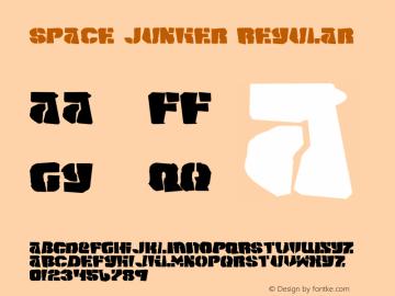 Space Junker Regular 1 Font Sample
