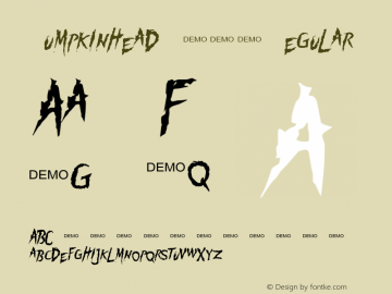 Pumpkinhead DEMO Regular 1.0  DEMO Font Sample