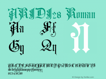 ARIDI28 Roman Version 001.000 Font Sample