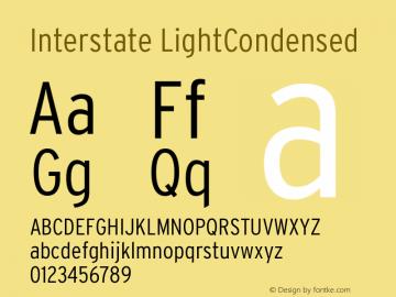 Interstate LightCondensed Version 001.000图片样张