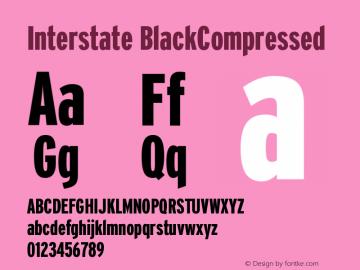 Interstate BlackCompressed Version 001.000 Font Sample