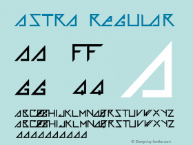 Astra Regular Macromedia Fontographer 4.1 5/25/99 Font Sample