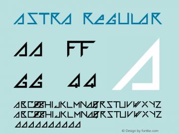 Astra Regular Macromedia Fontographer 4.1 5/25/99图片样张