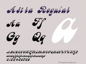 Astra Regular Converted from d:\AST_____.TF1 by ALLTYPE Font Sample