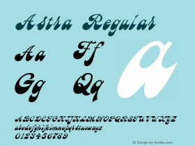 Astra Regular 001.000 Font Sample