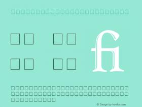 Goudy Handtooled Regular 001.000 Font Sample