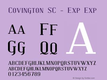 Covington SC - Exp Exp Version 001.000 Font Sample
