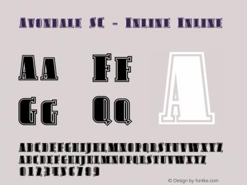 Avondale SC - Inline Inline Version 001.000 Font Sample
