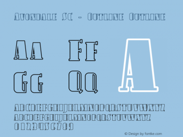 Avondale SC - Outline Outline Version 001.000 Font Sample