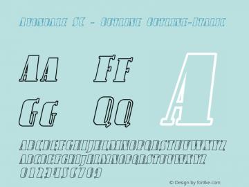 Avondale SC - Outline Outline-Italic Version 001.000 Font Sample