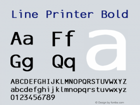 Line Printer Bold Converted from C:\TRUETYPE\X1356R8N.BF1 by ALLTYPE Font Sample