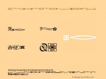 GriffinDingbats Regular 001.001 Font Sample