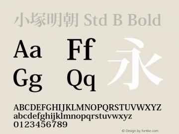 小塚明朝 Std B Bold Version 1.006;PS 4.005;Core 1.0.35;makeotf.lib1.5.4492 Font Sample