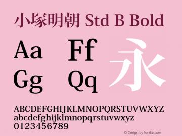 小塚明朝 Std B Bold Version 3.000;PS 4.01;Core 1.0.38;makeotf.lib1.7.12746 Font Sample