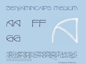 BenjaminCaps Medium 001.000 Font Sample
