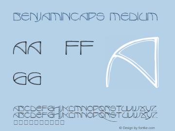 BenjaminCaps Medium 001.000 Font Sample