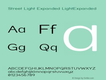 Street Light Expanded LightExpanded Version 001.000 Font Sample