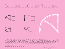 BenjaminCaps Medium 001.001 Font Sample