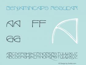 BenjaminCaps Regular Converted from D:\TEMP\BENJAMIN.TF1 by ALLTYPE Font Sample