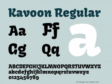 Kavoon Regular Version 1.002 Font Sample