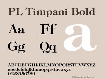 PL Timpani Bold KOBAX & Optimus core font: Version 2.00 Font Sample