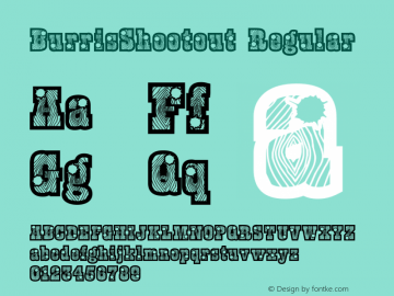 BurrisShootout Regular Macromedia Fontographer 4.1.4 10/14/05 Font Sample