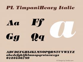 PL TimpaniHeavy Italic v1.0c Font Sample