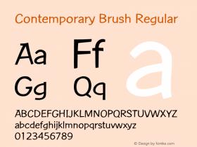 Contemporary Brush Regular Version 1.05 Font Sample