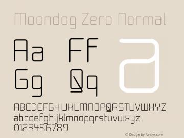 Moondog Zero Normal Version 001.000 Font Sample
