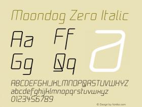 Moondog Zero Italic Version 001.000图片样张