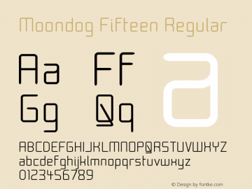 Moondog Fifteen Regular Version 001.000 Font Sample