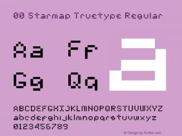 00 Starmap Truetype Regular 1.2 Font Sample