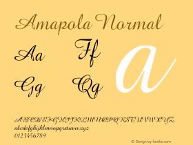 Amapola Normal Version 001.000图片样张