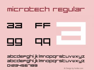 MicroTech Regular Version 1.2; 2001 Font Sample