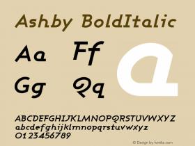 Ashby BoldItalic Version 001.000图片样张