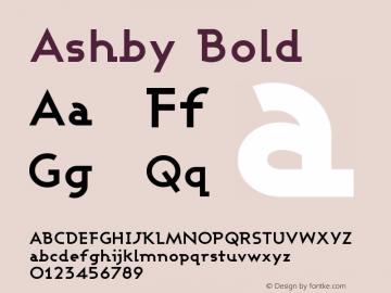 Ashby Bold Version 001.000图片样张