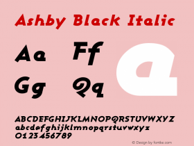 Ashby Black Italic Version 001.000图片样张